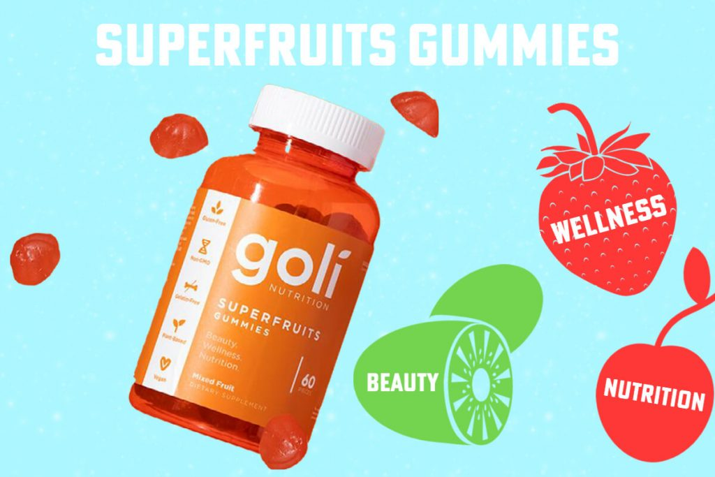 the main image - superfruits gummies by goli review