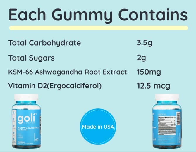 nutritional facts goli ashwa