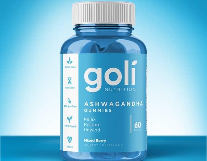 bottle of goli's ashwa