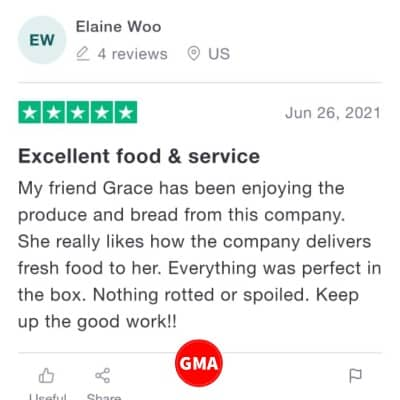 Imperfect Foods customer review 2