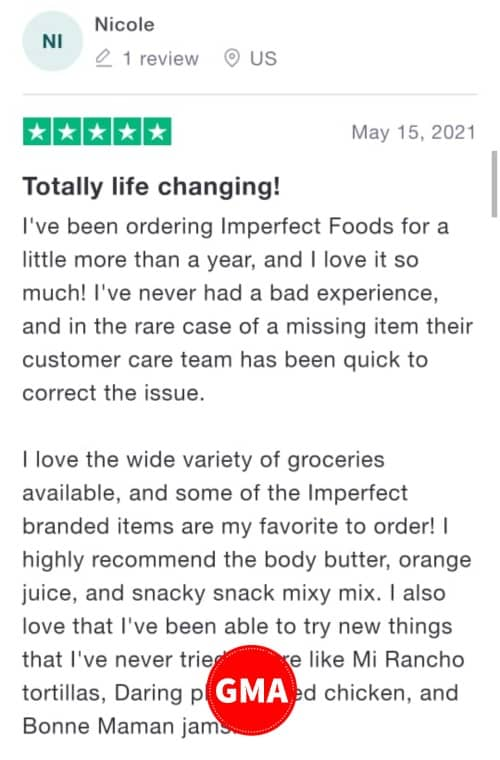 imperfect foods customer review 3
