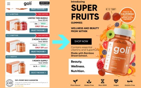 pricing and cost of goli's superfruits gummies