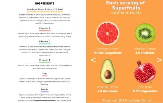 goli superfruits gummies ingredients